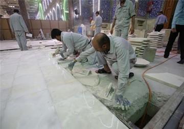 پروژه سنگفرش صحن قبله حرم امام حسین (ع) آغاز شد