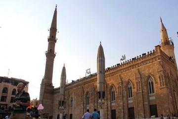 تدابیر امنیتی در محوطه اطراف مسجد امام حسین(ع) قاهره