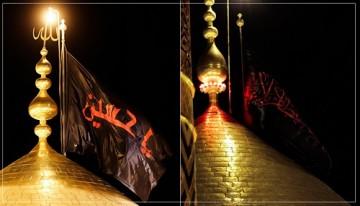 مراسم تعویض پرچم حرم امام حسین و حضرت عباس (ع) بدون حضور  زائر برگزار میشود
