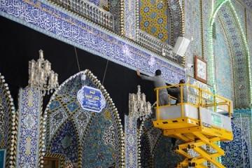 سیاه پوش شدن حرم حضرت عباس(ع) / گزارش تصویری