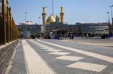 گسترش هزار متر مربعی صحن مطهر حضرت عباس (ع) / عکس