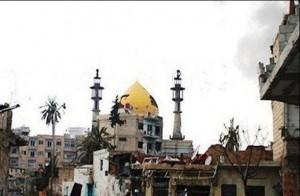 حرم حضرت سکینه(س) پس از حمله موشکی تکفیریها + تصاویر