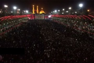 تصاویری از هیات ها و عزاداران حسینى در شب عاشورا
