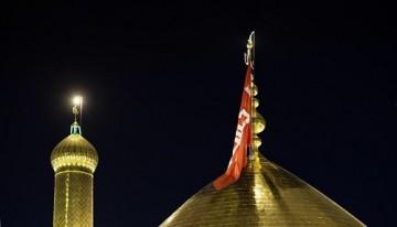 آیین تعویض پرچم گنبد مرقد سیدالشهداء (ع) / گزارش تصویری