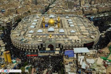 تصاویر هوایی از کربلای معلی در آستانه اربعین حسینی