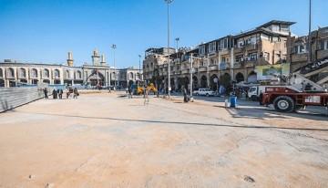 مراحل نهایی پروژه توسعه خیابان بابالقبله حرم حسینی (ع)