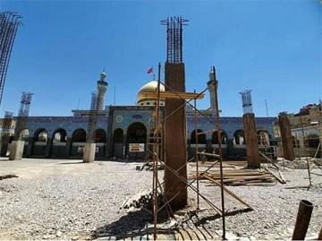 1600  متر از صحن حرم حضرت زینب (س) مسقف میشود