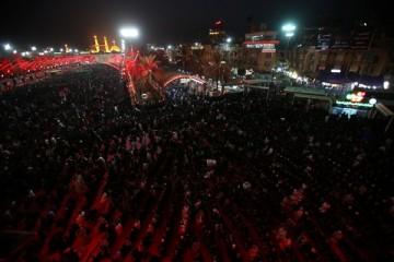 3 میلیون زائر سوگوار در آسمان سرخ کربلا