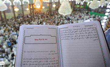 قرائت دعای عرفه با حضور میلیونی زائران امام حسین (ع) در کربلا + تصاویر