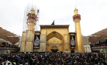گزارش تصویری از حضور زائران اربعین حسینی در حرم امام علی (ع)