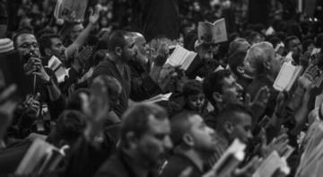 مراسم احیای شب بیست و یکم ماه رمضان در کربلای معلی