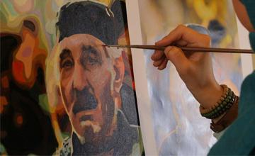 هزینه فروش تابلوی نقاشی «تحیر سرخ» صرف تبلیغ نام اهل بیت (ع) خواهد شد