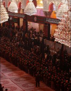 عزاداری خادمان حرمین امام حسین (ع) و حضرت عباس (ع)/ عکس