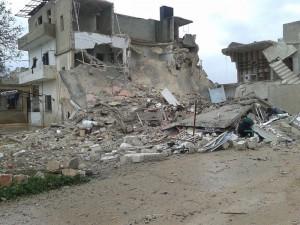 تخریب منازل شیعیان در حمله موشکی تکفیری ها + عکس