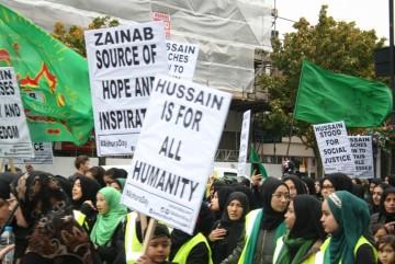 گزارش تصویری از راهپیمایی روز عاشورا در لندن