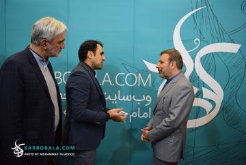 حضور وزیر ارتباطات در غرفه کرب و بلا در نمایشگاه رسانه های دیجیتال