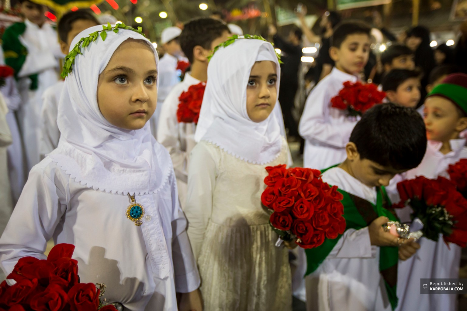 کودکان پاک حسینی در شب شام غریبان آن حضرت