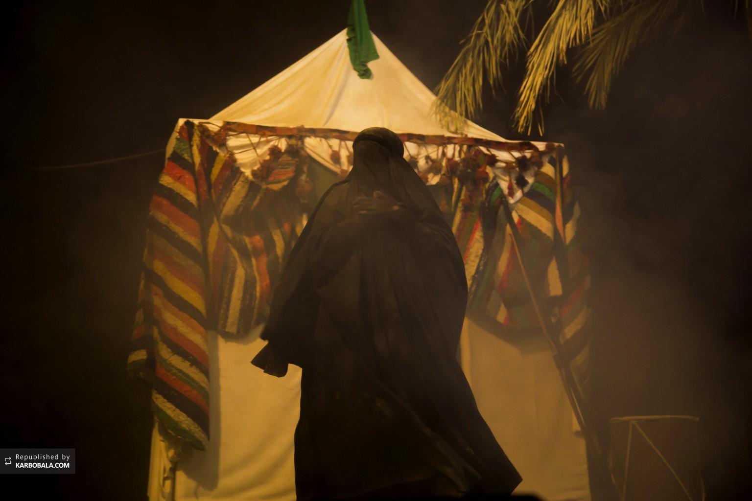 برگزاری مراسم تعزیه به مناسبت شروع ایام محرم در کربلا