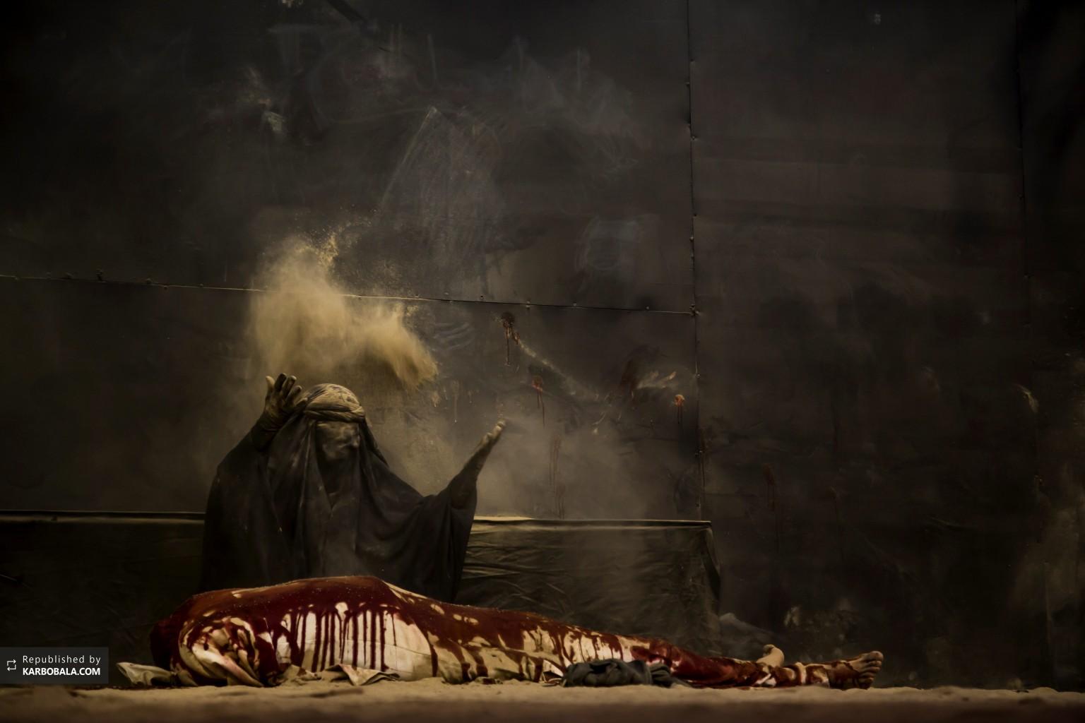 مراسم تعزیه با موضوع شهادت امام حسین علیه السلام