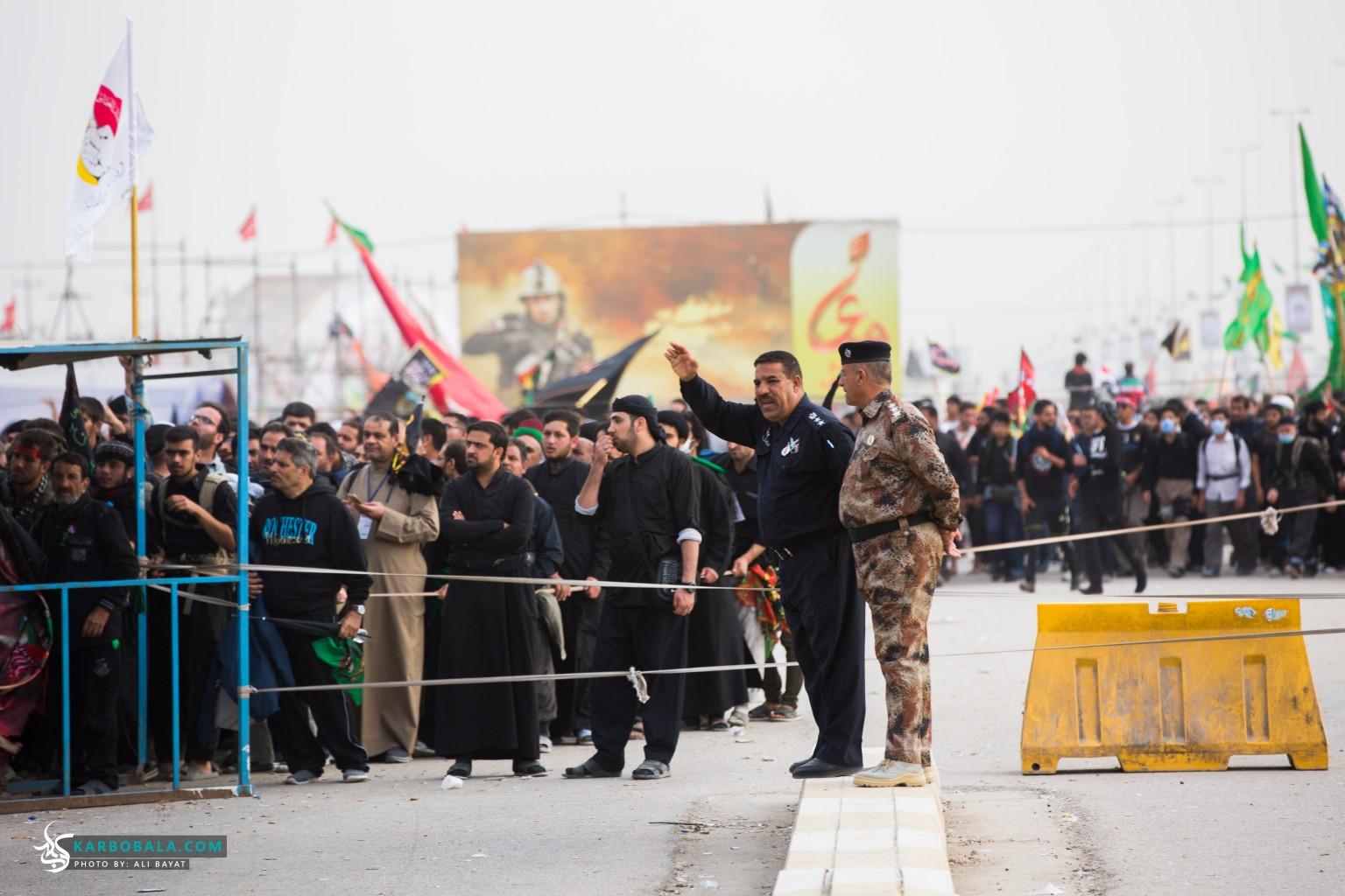 تدابیر امنیتی در مناطق مرزی و گذرگاه های مسیر نجف به کربلا