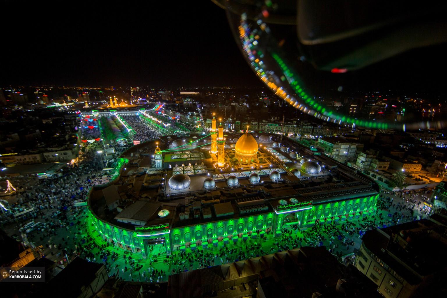 کربلای معلی در شادی عید بزرگ سعید فطر