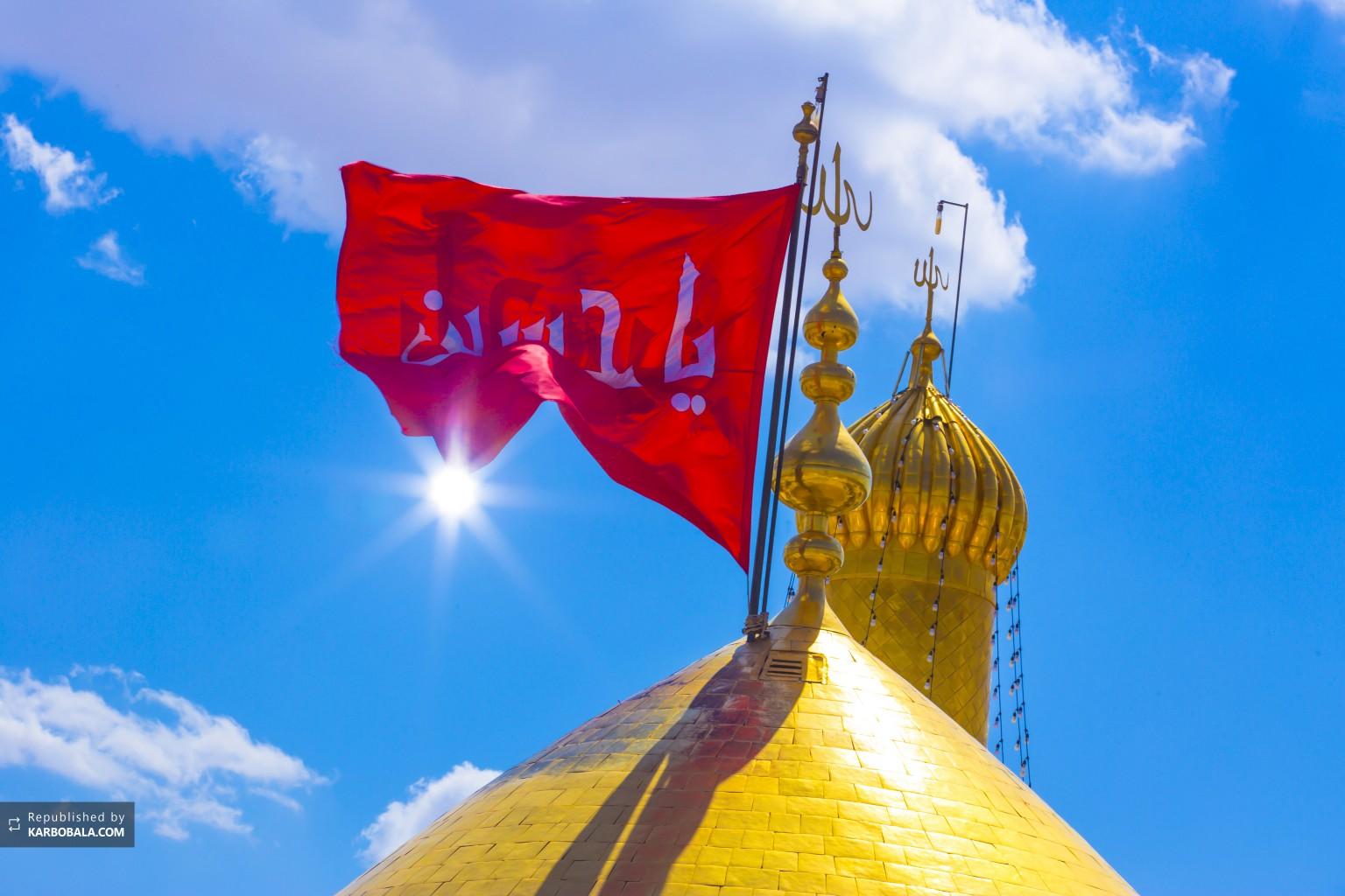 نمایی نزدیک از بارگاه امام سوم شیعیان...