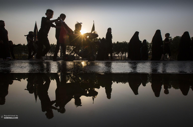 شیعیان عزادار در تب و تاب ایام اربعین حسینی