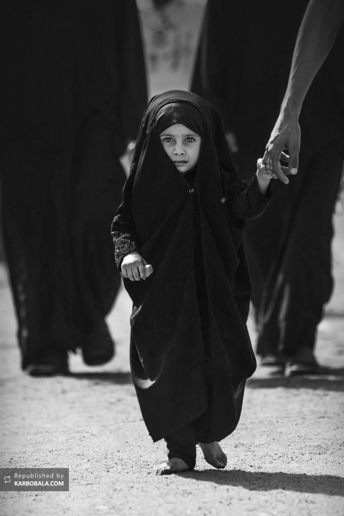 راهپیمایی کودک پاک حسینی در مراسم بزرگ اربعین