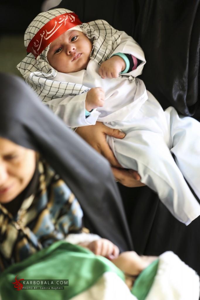 تصویری از مراسم شیرخوارگان حسینی در ایام محرم