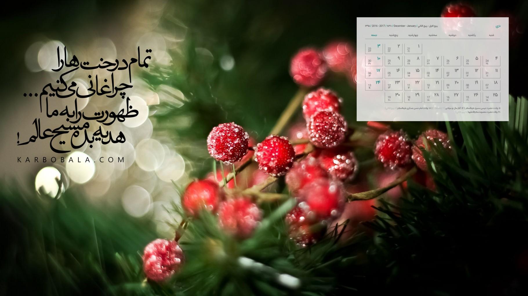 تقویم دیماه 95