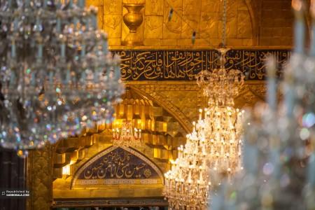 تصویری زیبا از ایوان حرم امام حسین علیه السلام