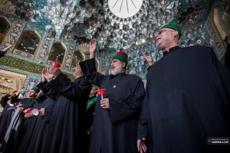 ابراز ارادت خادمان حرمین شرفین به ساحت مقدس سیدالشهدا علیهالسلام