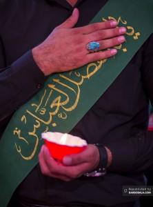 خادم حرم قمر منیر بنی هاشم در مجلس عزای اباعبدالله علیهماالسلام