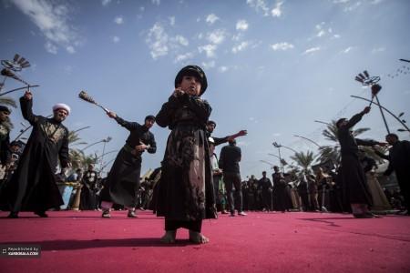 حضور پرشور کودکان در دسته های عزاداری سیدالشهدا علیهالسلام