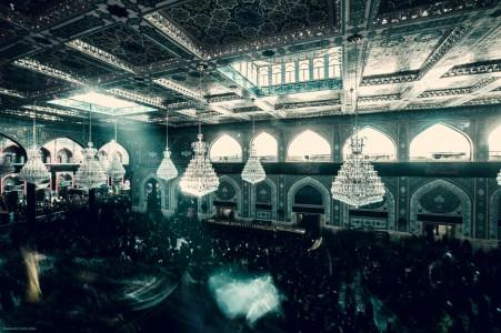 نمای بالایی از صحن امام حسین علیه السلام