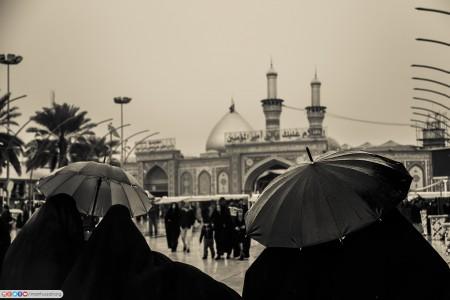 باران در شهر کربلا...