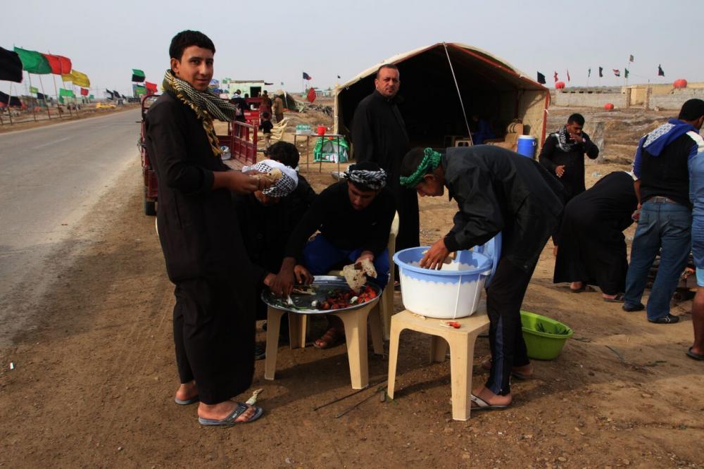 گزارش تصویری راهپیمای اربعین اهالی میسان عراق